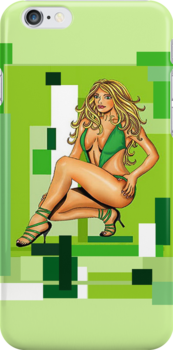 Babe in Green by Ameda Nowlin