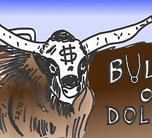 binary options cartoon - USD running with the Bulls by Binary-Options