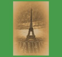 Vintage Eiffel Tower Paris #1 T-shirt Kids Clothes