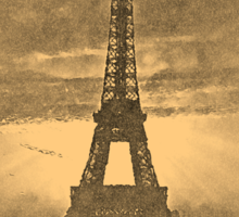 Vintage Eiffel Tower Paris #1 T-shirt Sticker