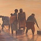 Lake Malawi Women at Sunrise by Nisty