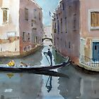 A quiet canal by HurstPainters