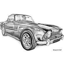 Triumph TR4 by BSIllustration