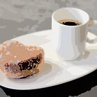 Cafe Americano and Heart Shaped Doughnut by Ari Salmela