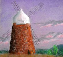Windmill at dusk by Hilary Robinson