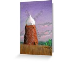 Windmill at dusk Greeting Card