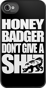Honey Badger Don&#x27;t Give A Shit (White Design) by jezkemp