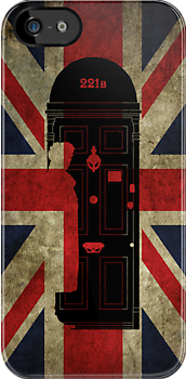 221B Baker Street Sherlock Holmes Door by bomdesignz