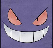 Gengar Face - Pokemon Art Poster Minimal by Jorden Tually