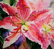 Birthday Lilies by Ruth S Harris