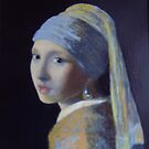 Girl with a Pearl Earring after Jan Vermeer by Darren Golding