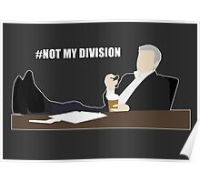 Not My Division - DI Lestrade (white text) Poster