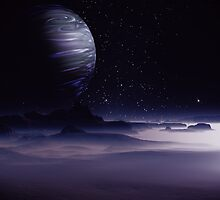 Beneath the Gas Giant Tral by AlienVisitor