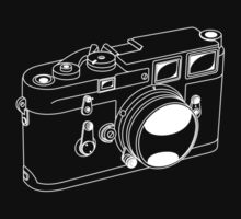 Leica M3 - White Line Art - No Text by jphphotography