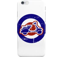 Aged Mod Target and scooter logo iPhone Case/Skin
