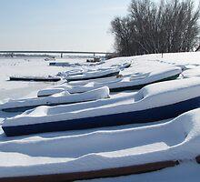 Snowy Boats by branko stanic