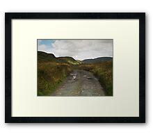 Blue Stack Mountain Road Framed Print