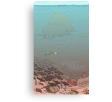 At the bottom of the Ocean Canvas Print