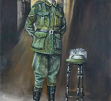 Len Shannon - 9th Australian Light Horse. by Wayne Dowsent