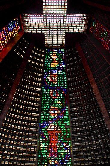 Interior, Roman Catholic Cathedral of Saint Sebastian, Rio de Janeiro, Brazil by Carole-Anne