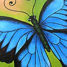 Kazart Butterfly Blue No.1 Greeting Card by Karen Sagovac