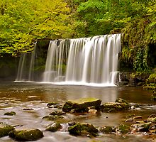 Sgwd Ddwli Uchaf - Upper Gushing Falls by Images Abound | Neil Protheroe