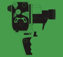 8mm Camera - Bolex - Black Line Art by jphphotography