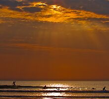 Sunset Surfing by Crispel