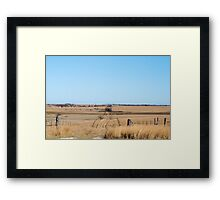 Kansas Dirt Road Framed Print