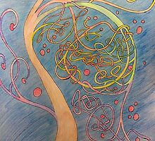 Psychaceltic tree by Anne Guimond