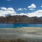 Pangong Tso, Leh (Wide Angle Shot) by Urban-Clicks