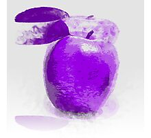 Purple Apple Painting Photographic Print