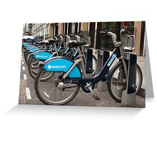 Boris Bike Greeting Card