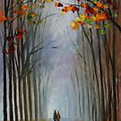 AUTUMN FOG - LEONID AFREMOV by Leonid  Afremov