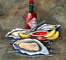 Oysters on the Half Shell by Elaine Hodges