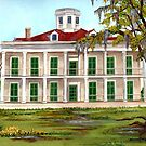 LeBeau Plantation Front View by Elaine Hodges