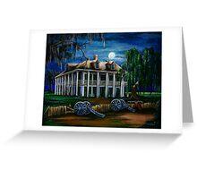 Moonlit Plantation Greeting Card
