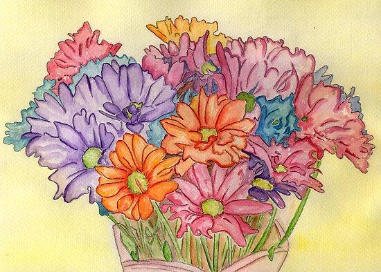 Valentine's Day Flowers by Anne Gitto