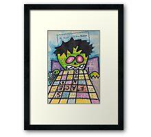 Scrabble Zombie Framed Print