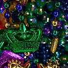Mardi Gras beads by Celeste Mookherjee