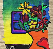 The Bouquet Greeting Card by Janet Antepara