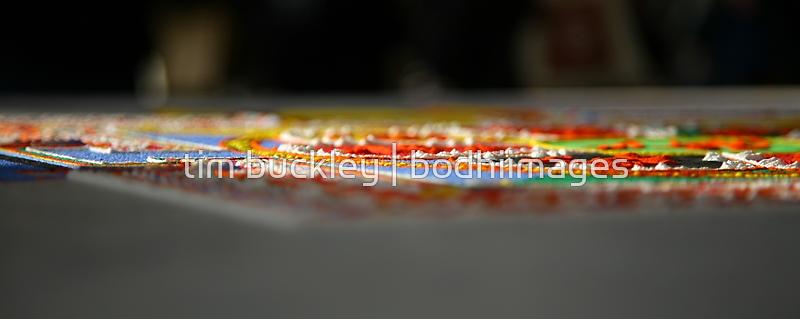 detail, tibetan sand mandala. melbourne, australia  by tim buckley | bodhiimages