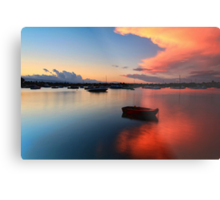 Floating Sunset Metal Print