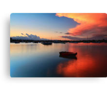 Floating Sunset Canvas Print