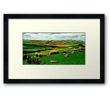 Hokonui hills Southland NZ Framed Print