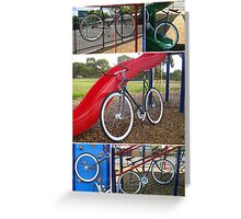 Fixie Playground Collage Greeting Card