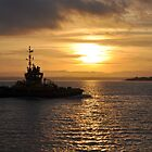 Sunset at Old Portsmouth by Vickyeastwood