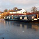 The Frozen Lancaster Canal by Lilian Marshall