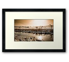Chesterfield Canal - Middlecroft Framed Print