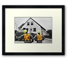 The Logistics of Moving a House Framed Print